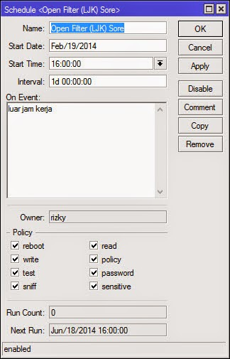 Filter Jam Pulang Kerja