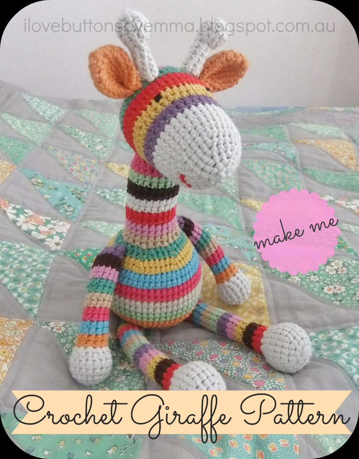 Free Crochet Pattern Stuffed Animals : Crochet Stuffed Animals and Toys on Pinterest African ...