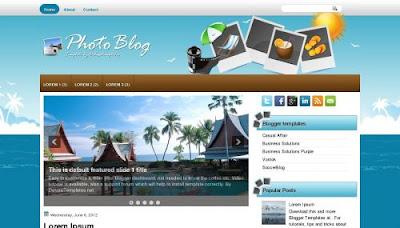 phototravel blog template