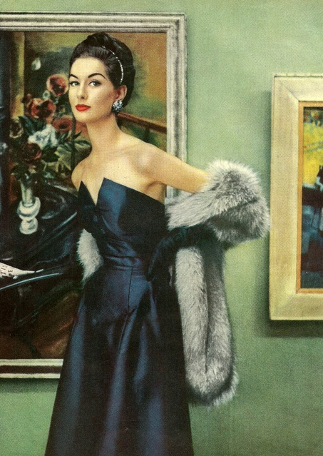 Henri Bendel Fashion #vintage #blue #dress #1950s #fashion #60s #style