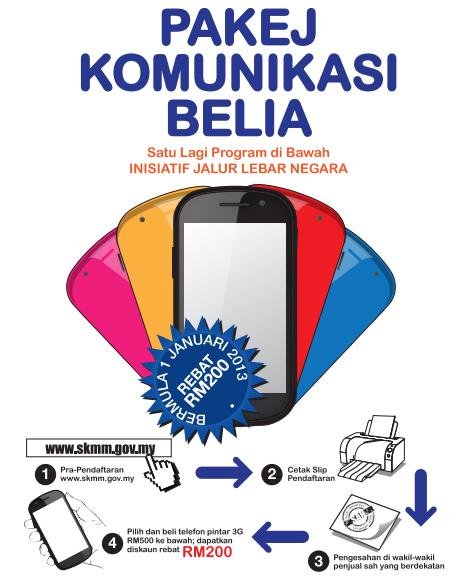 yang boleh dipilih belia bagi mendapat rebat RM200 Pakej Komunikasi