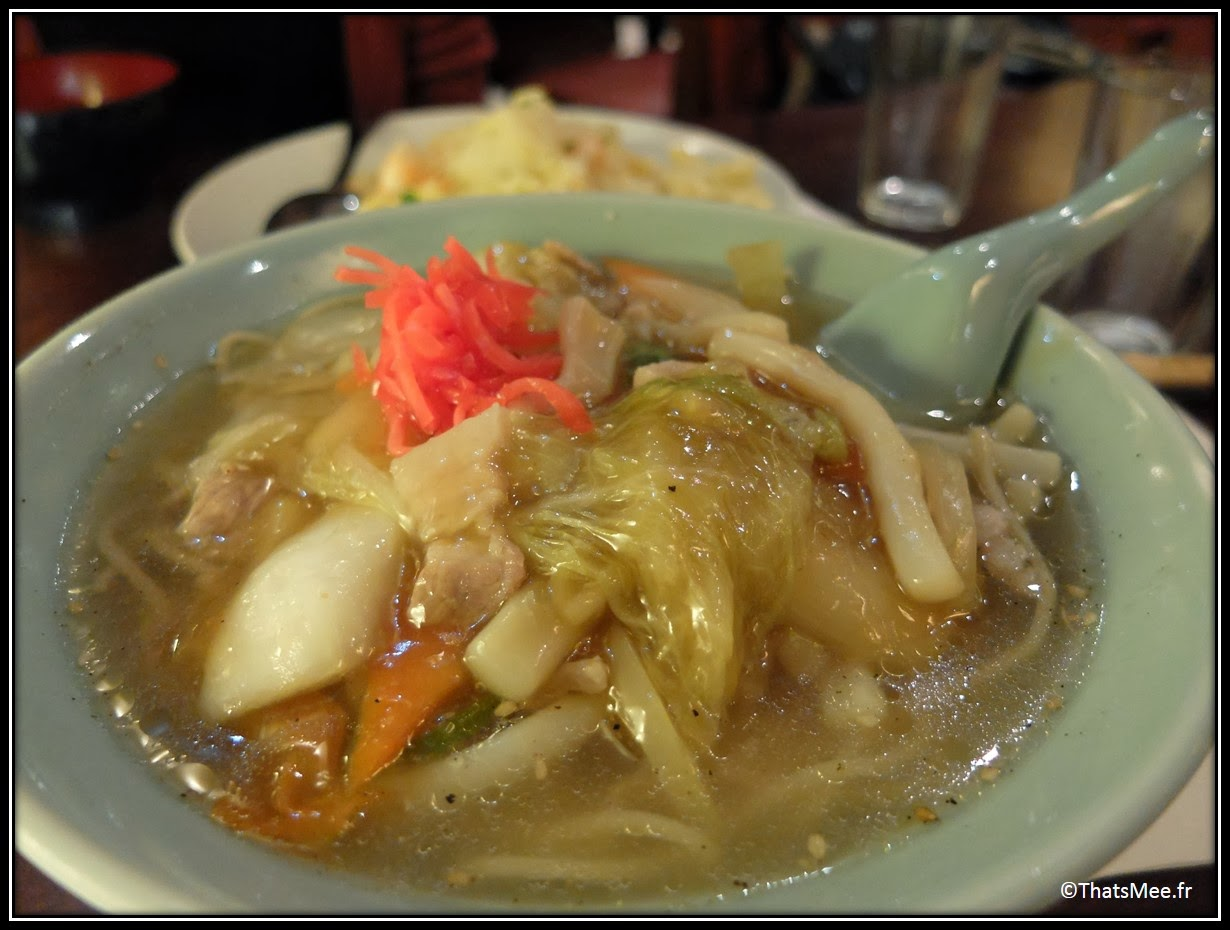 restaurant japonais Higuma cantine 163 rue Saint Honoré Paris plats nouilles gluantes