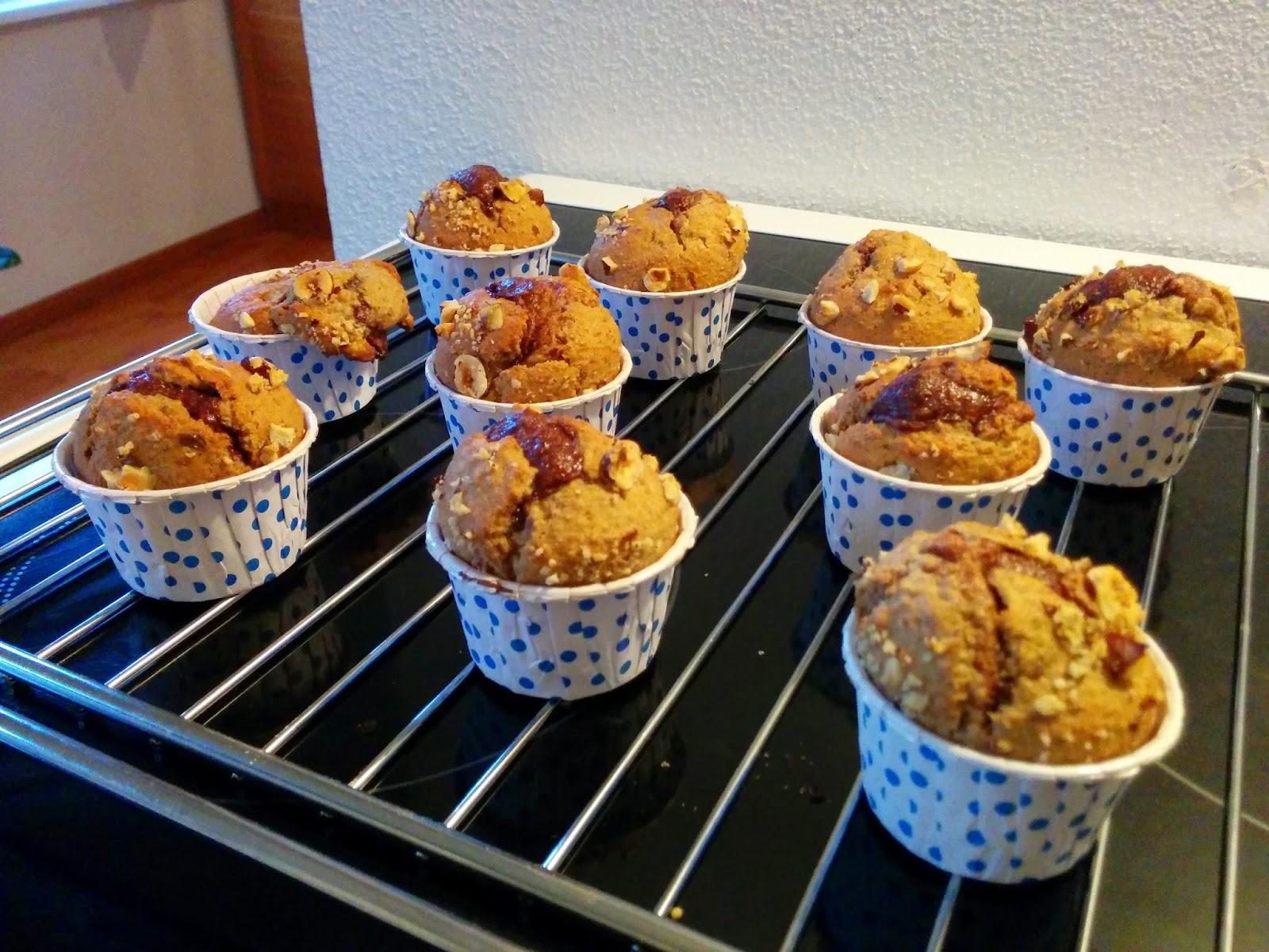 Muffins aux noisettes et Nutella