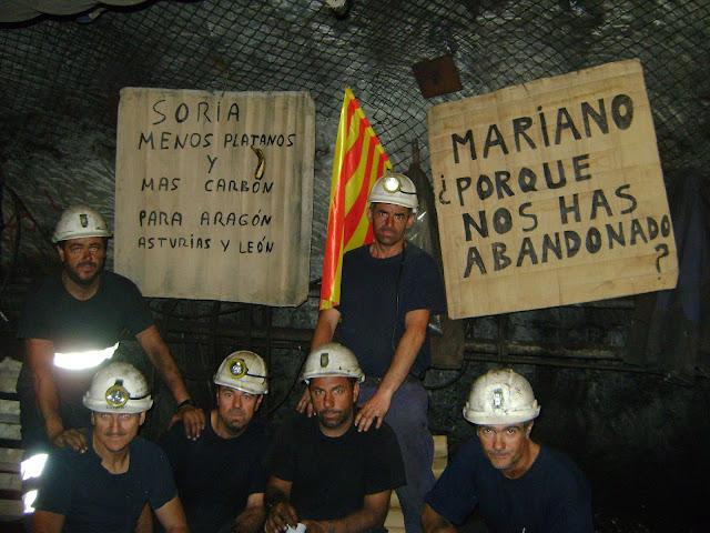 Protestas mineros carbón