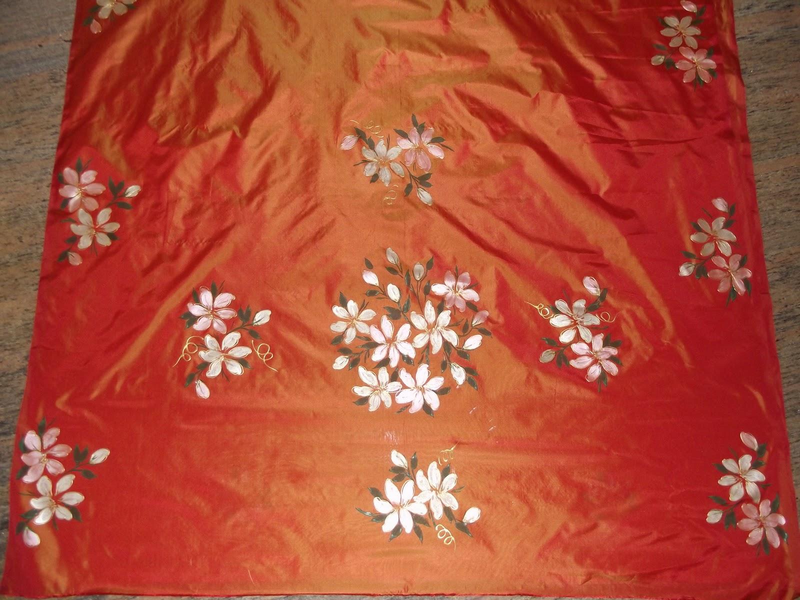 Free Hand Painted Saree