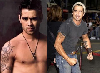 Celebrity Colin Farrell Tattoo Pictures