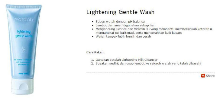 Lightening Gentle Wash - $6