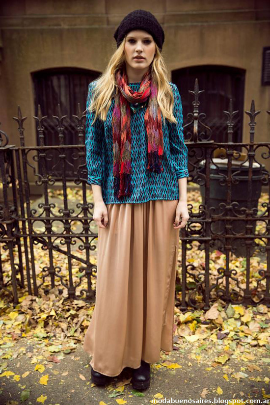 India Style otoño invierno 2014 faldas largas y sweaters 2014.