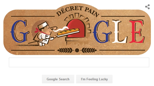Baguette Roti Perancis Google Doodle Hari Ini, Minggu 13 September 2015