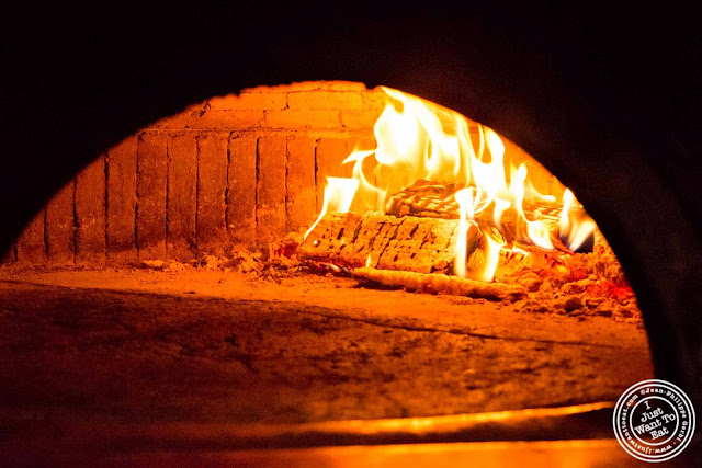 image of Wood fire oven at Motorino pizza in the East Village, NYC, New York