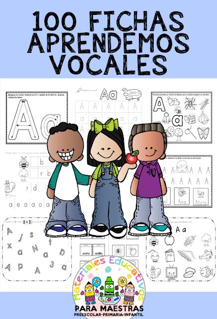 100 FICHAS DE VOCALES