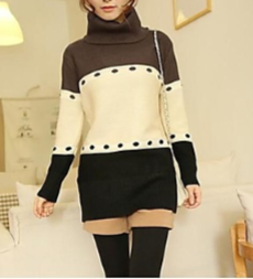 ladies black and white abstract designer sweater