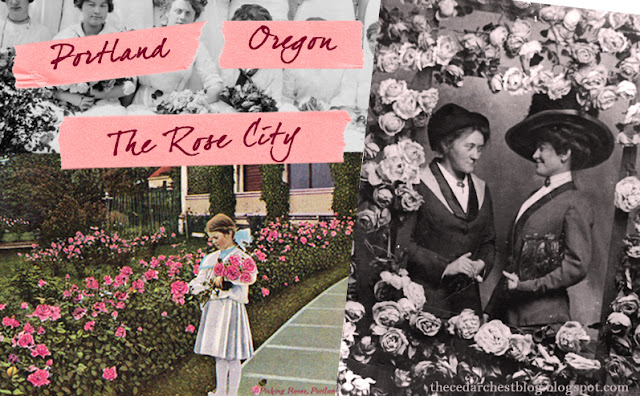 Vintage Portland Oregon City of Roses Postcards and Photos - The Cedar Chest Blog