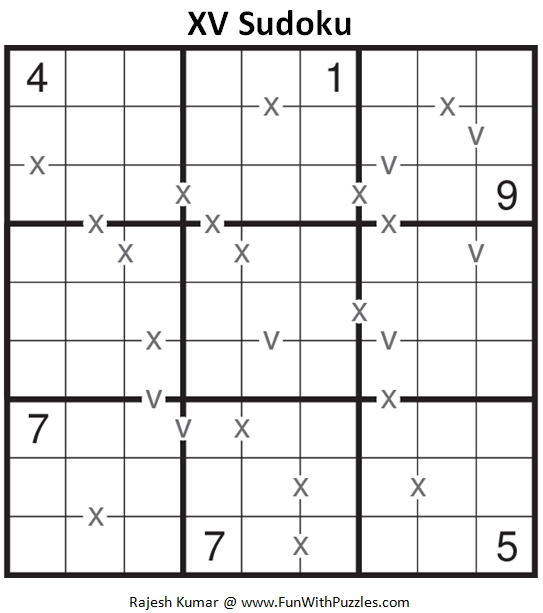 XV Sudoku (Fun With Sudoku #149)