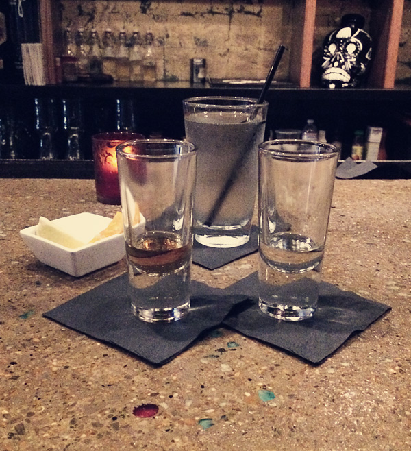 Tequila tasting at Saint Anejo Mexican Restaurant in the Gulch, Nashville Tennessee.