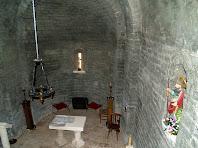 La nau de Sant Jaume de Fonollet des de dalt del cor