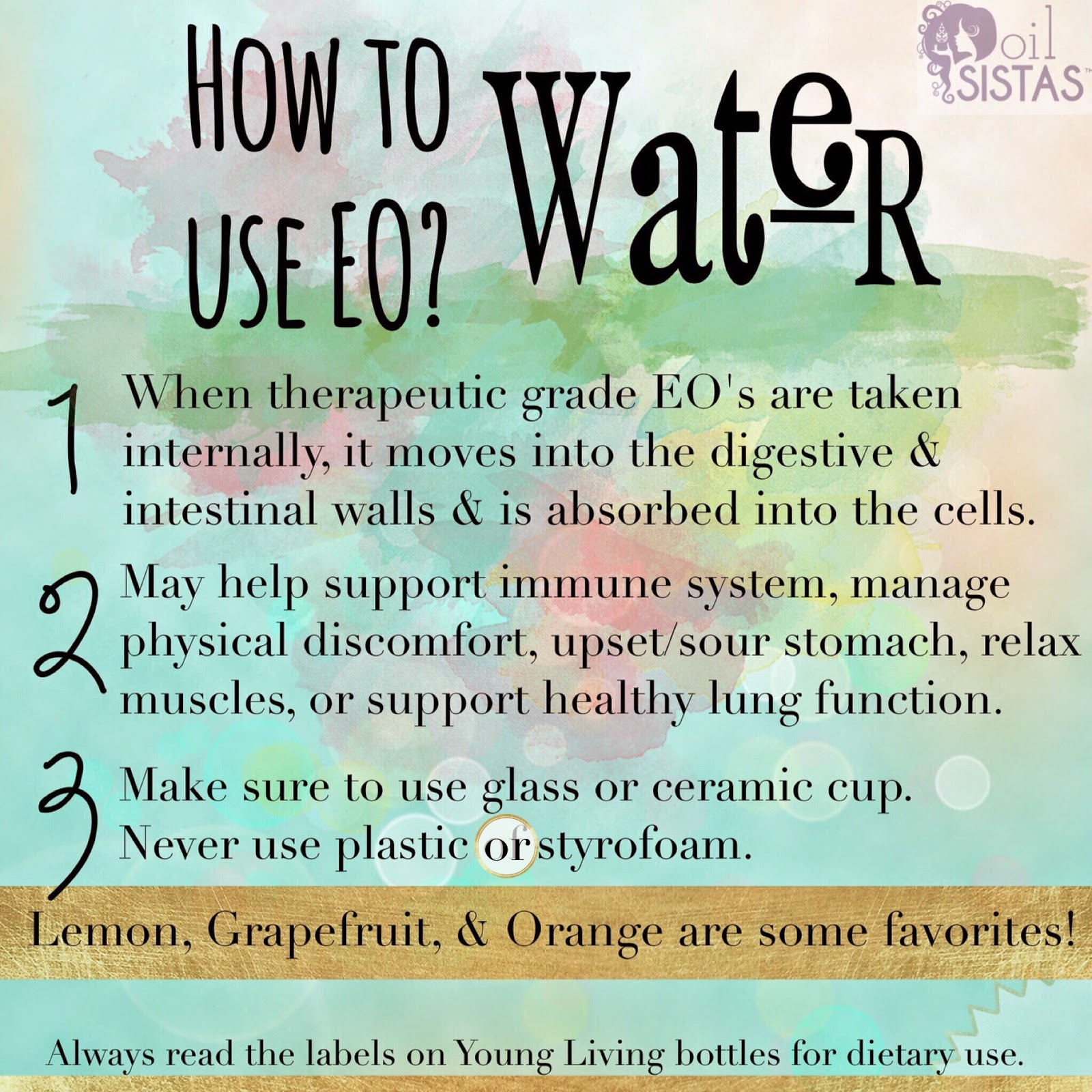 How to use essential oils internally?