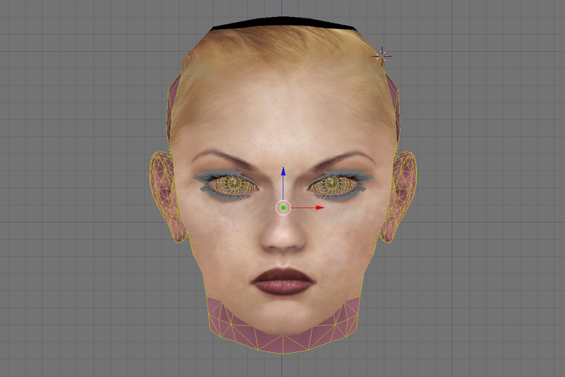 Nina Williams Tekken Face 3D CG