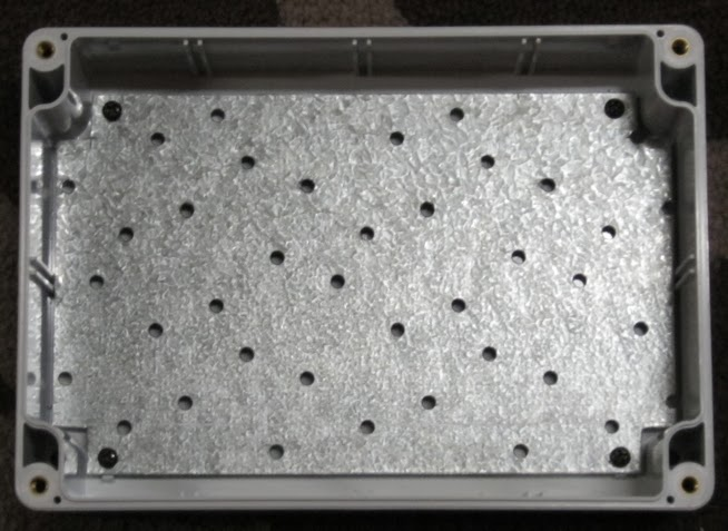 Waterproof enclosure with a mounting plate