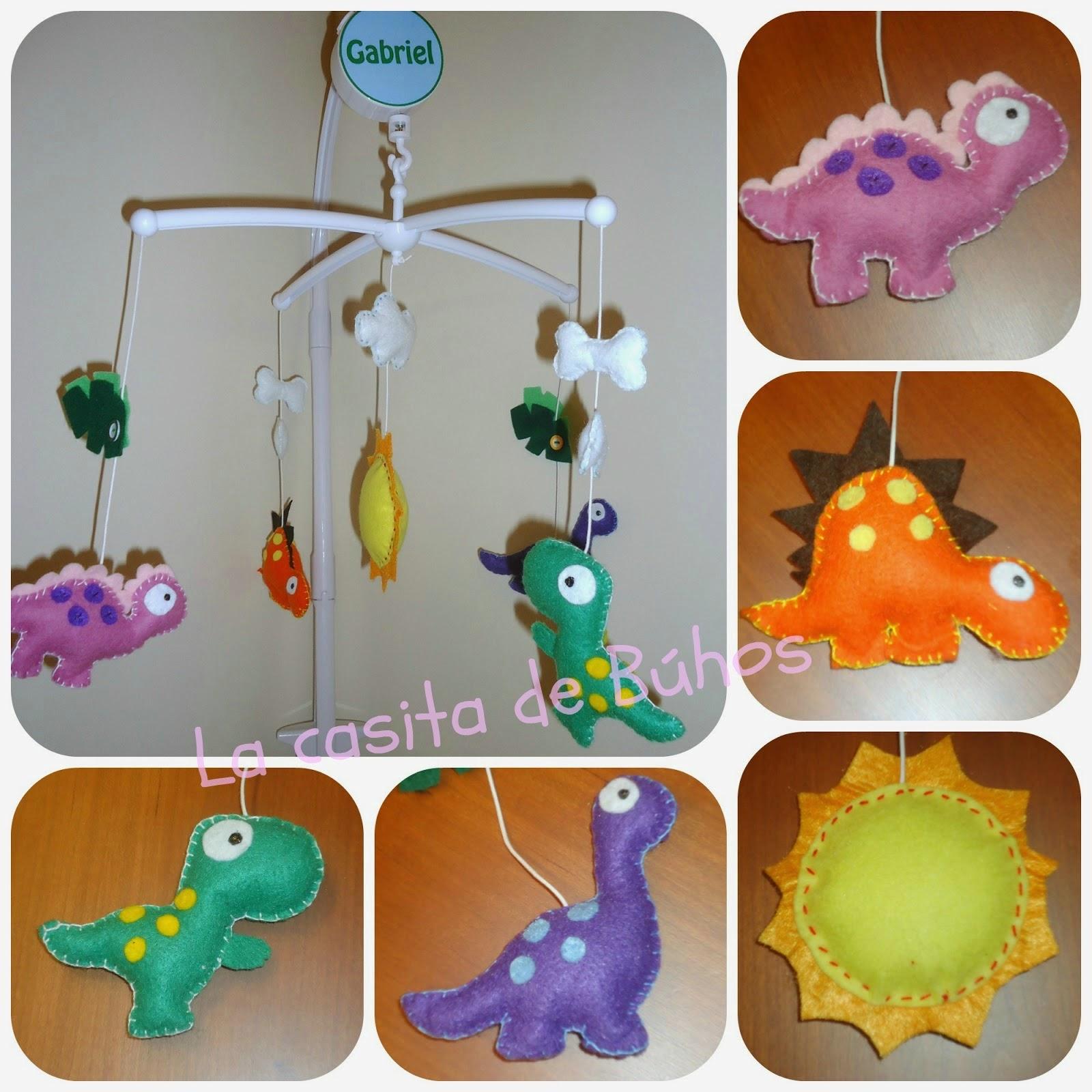 Móvil cuna dinosaurios - Crib mobile dinosaurs