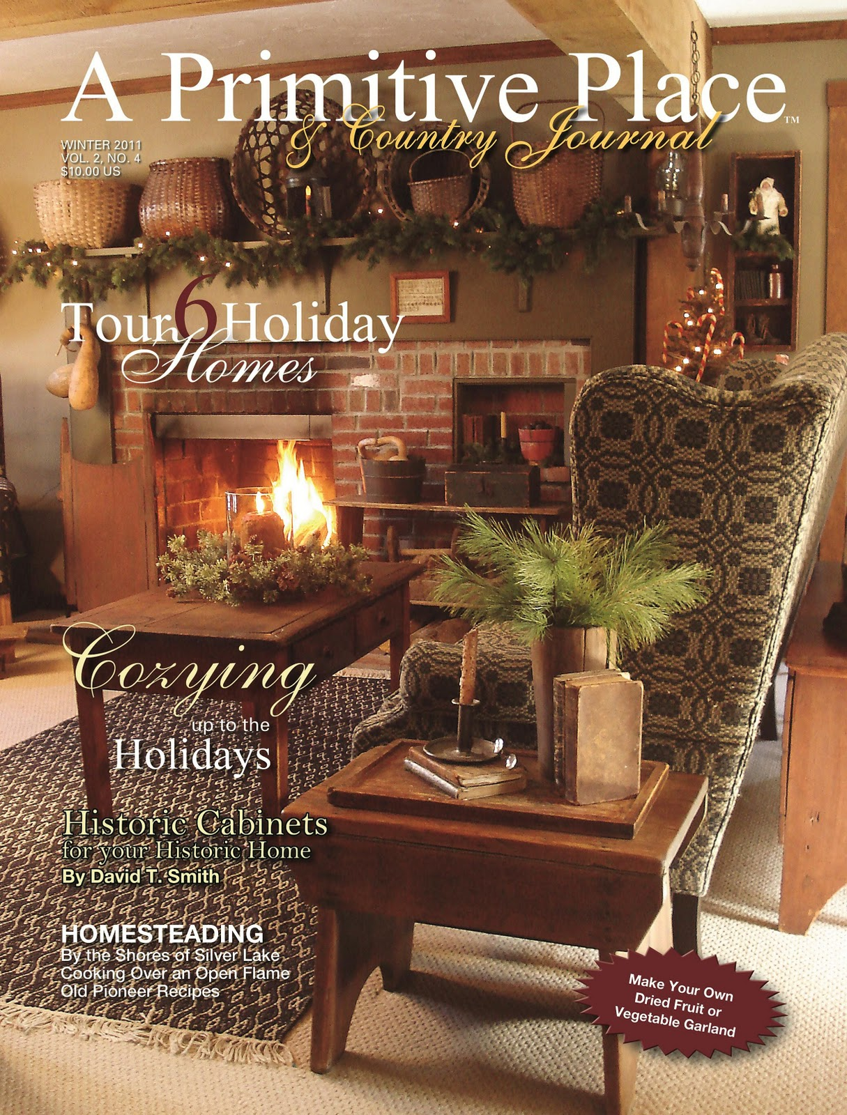 primitive place country journal magazine holiday 2011 cover