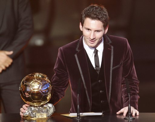 Lionel Messi FIFA Ballon d'Or 2011 (Zurich, January 2012)