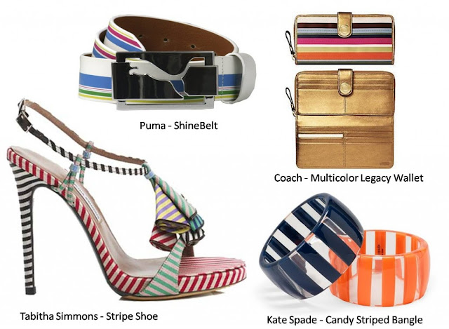 Winter Fashion Stripes Accessories Trend