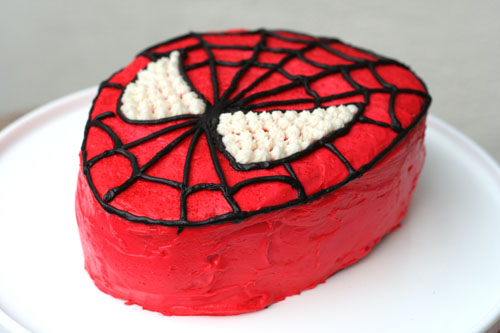 elenasprinciples: Spiderman birthday cake easy to make at home