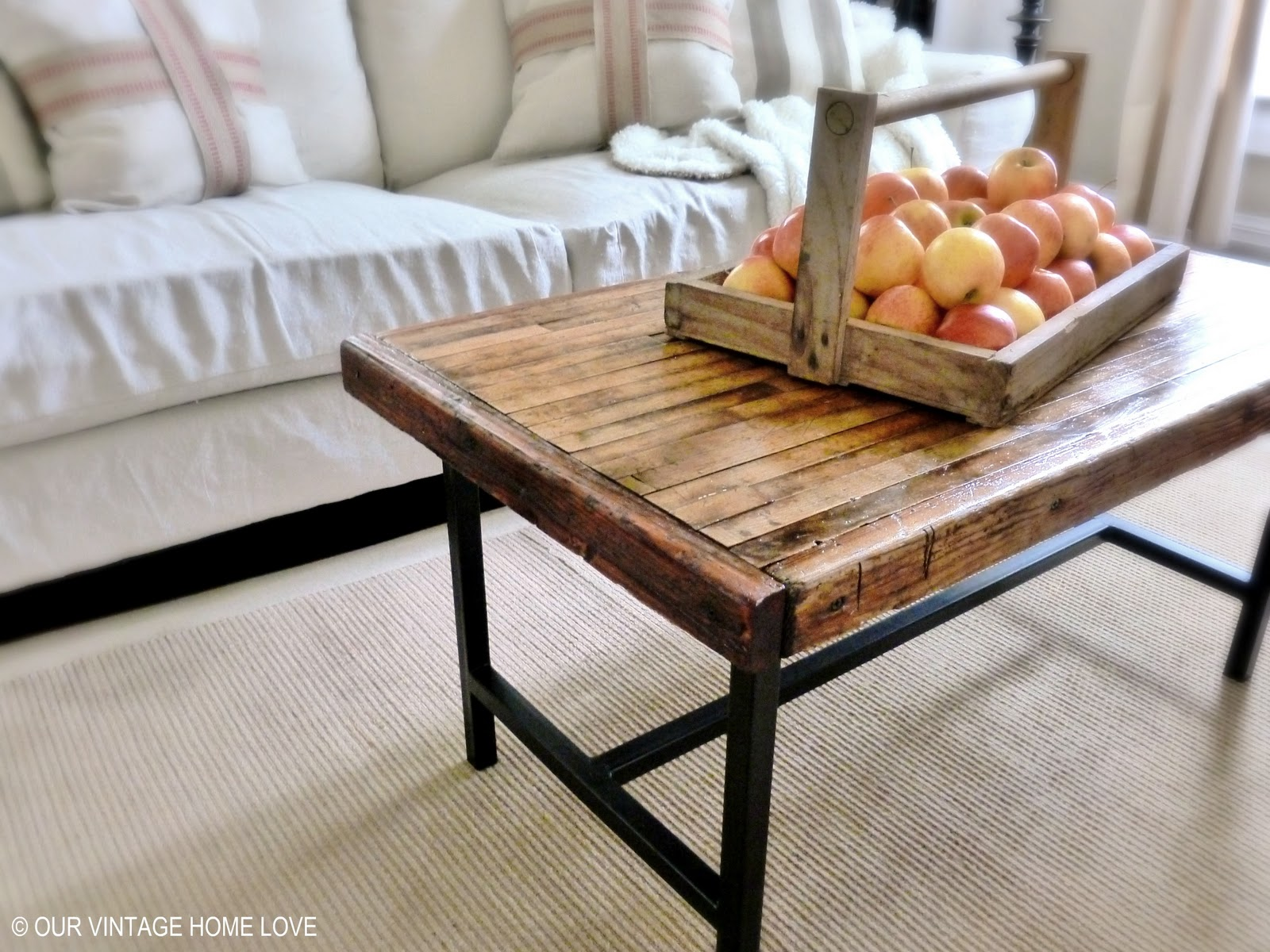 our vintage home love Salvaged Bowling Alley Floor Table