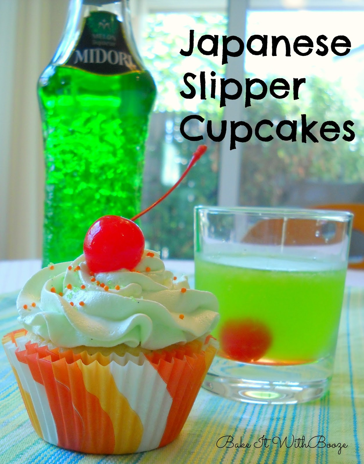 Japanese Slipper Cupcakes with Midori