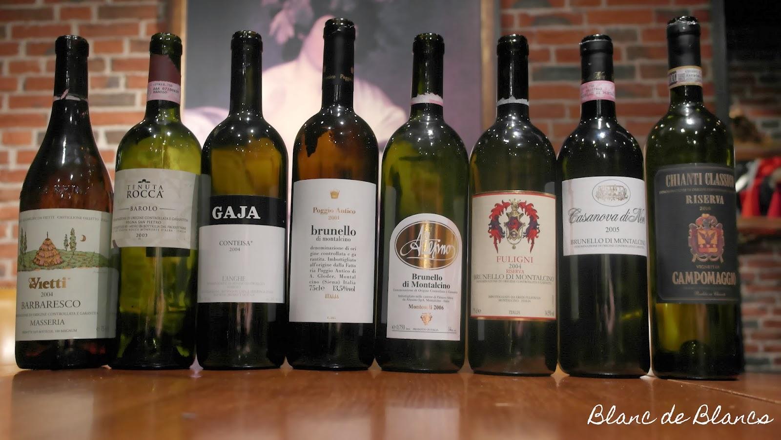 Piemonte & Brunello di Montalcino -tasting - Blanc de Blancs