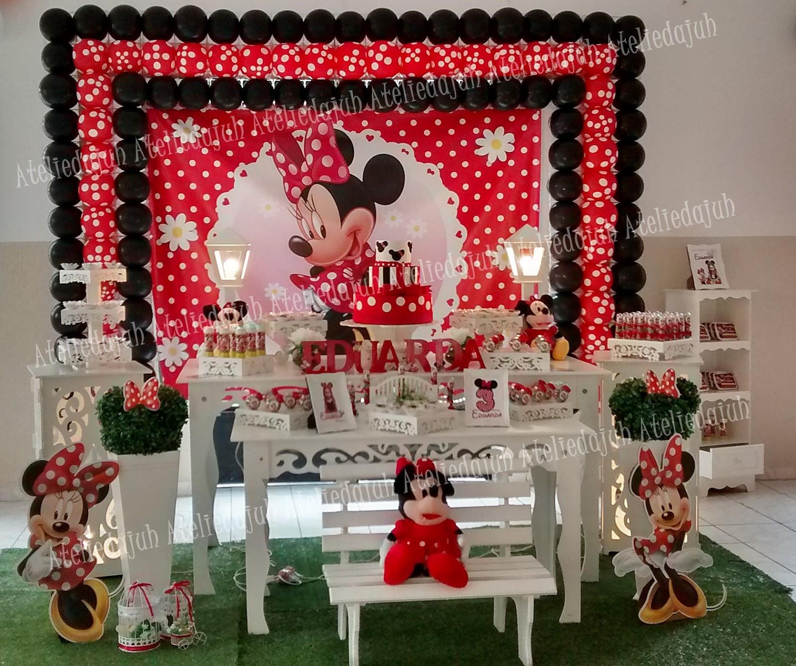 Ateliê da Juh Decoração da Festa Minnie Vermelha
