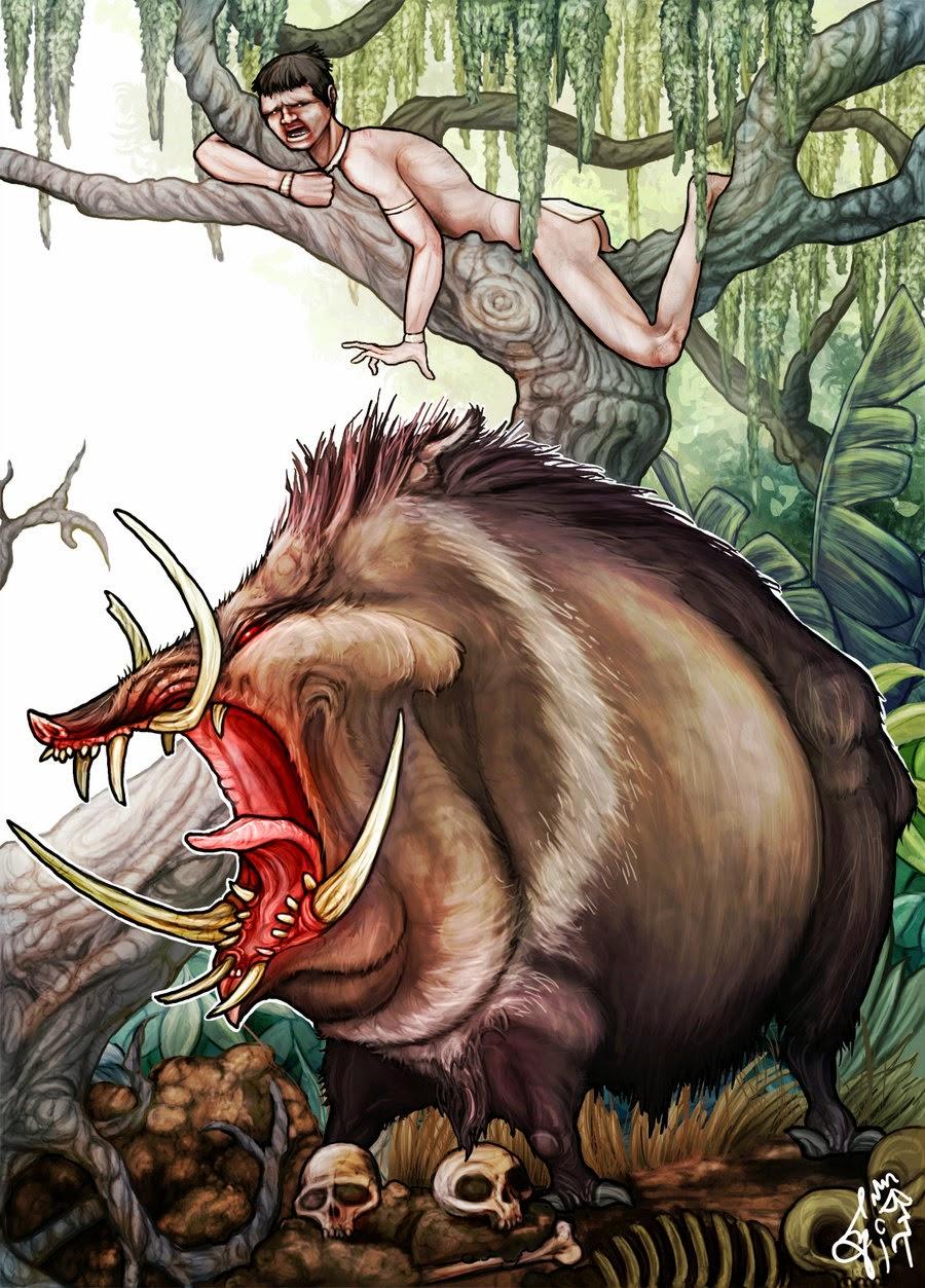 una forma de huir de esta terrible criatura es subirse a un tipo de palmera llamada pindó