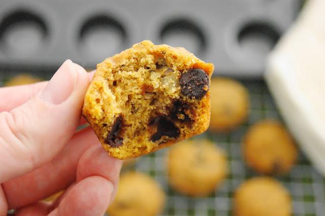 Chocolate Chip Pumpkin Muffins   www.thekitchenismyplayground.com