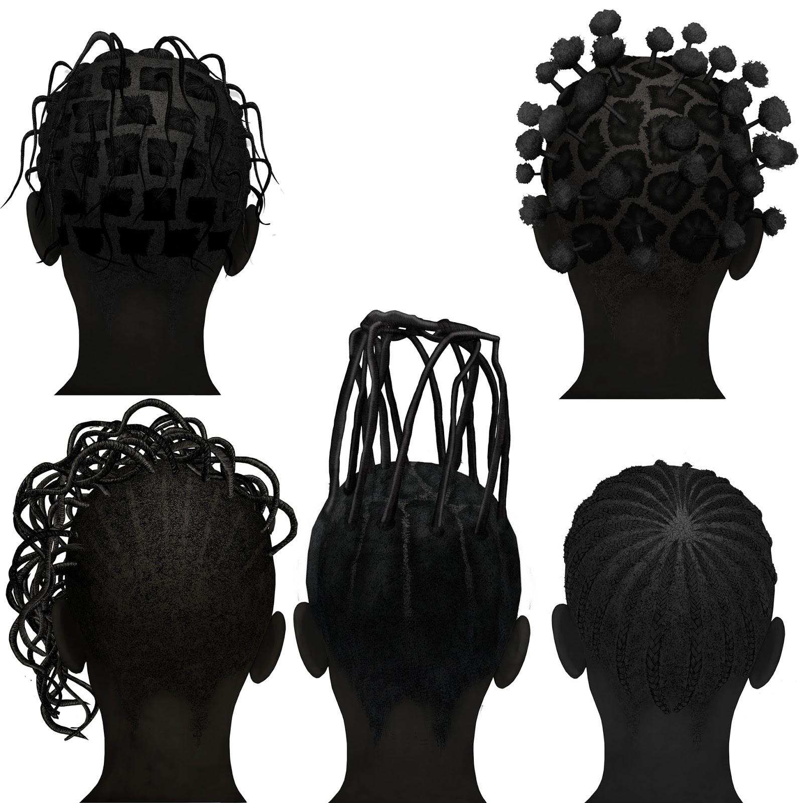 cinco peinados Congo