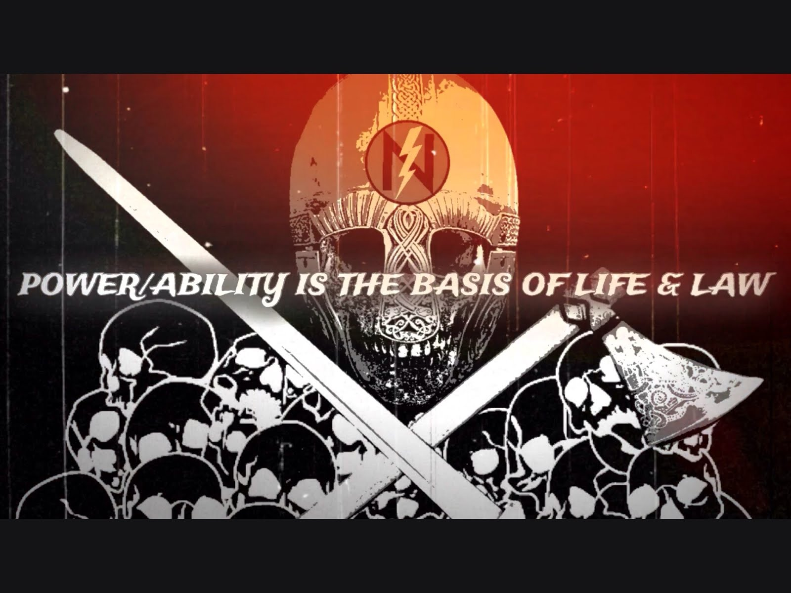 Power/Ability Is The Basis of Life & Law (video)