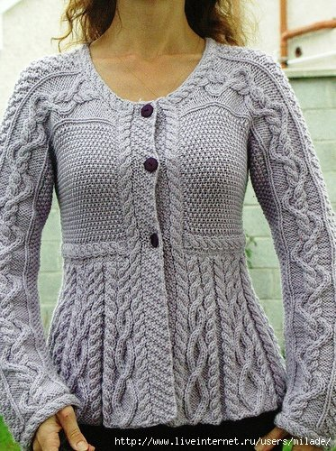 Модные жакеты вязание на спицах