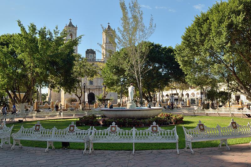 La plaza centrale de Valladolid