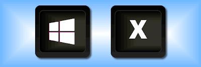 Atalho de teclado Win+X