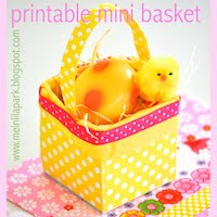 free mini easter basket: