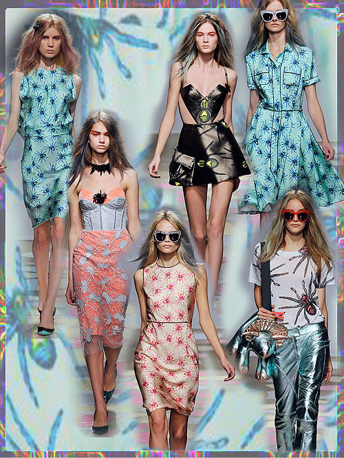 Psynopsis Giles Spider Dresses Collage
