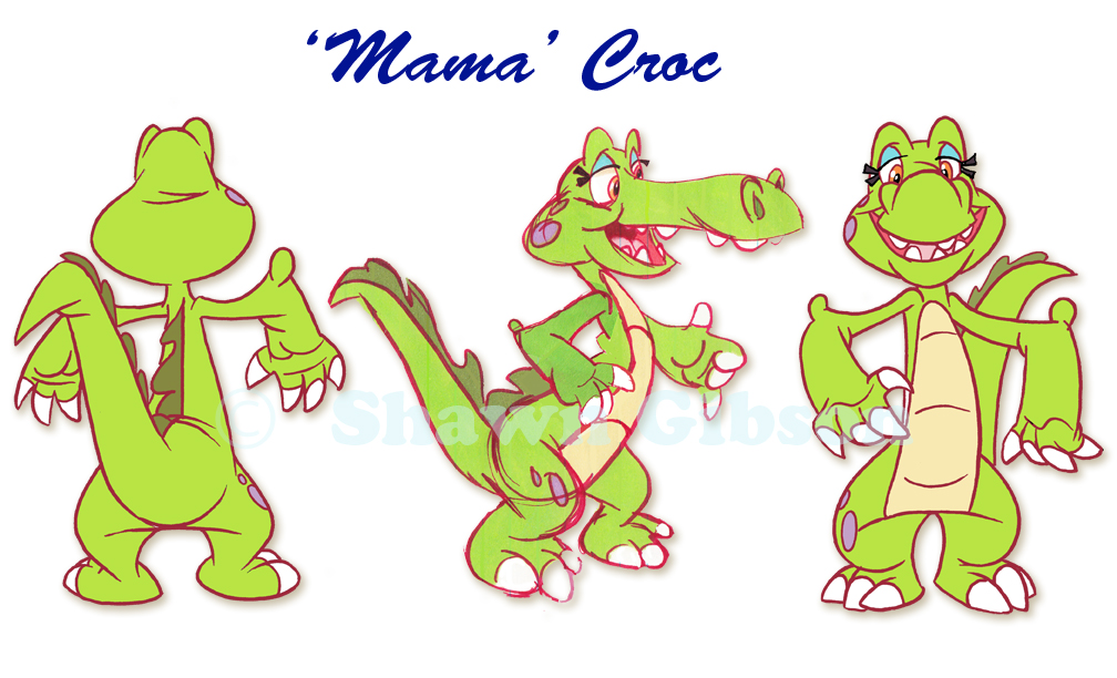 Children S Book Character Design : Shawngibsondesign character design of ol mama croc