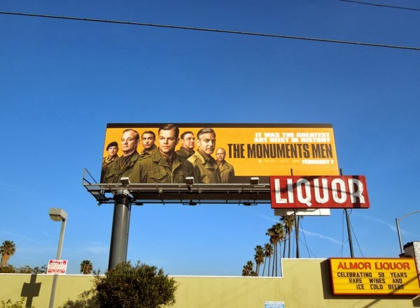 Monuments Men movie billboard