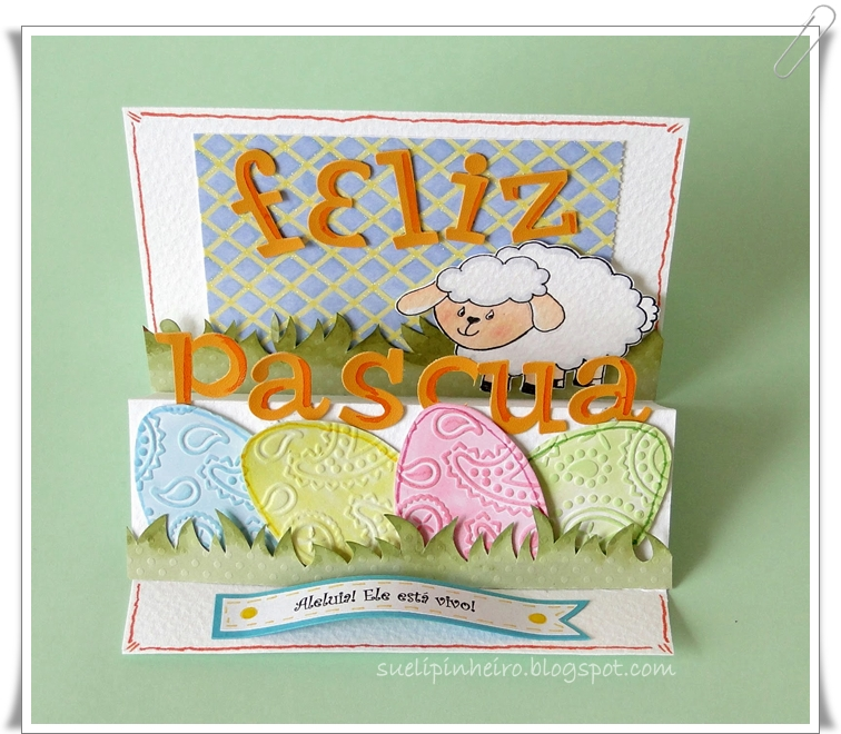 Tarjeta pascua ovejita