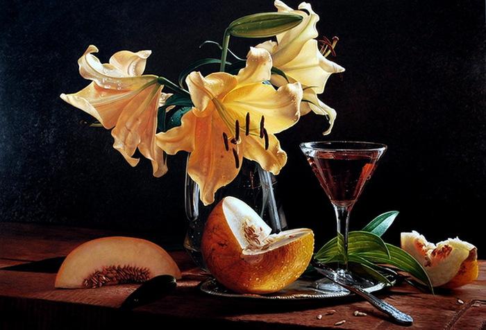 Giuseppe muscio hyperrealist painter tutt 39 art - Floreros modernos ...