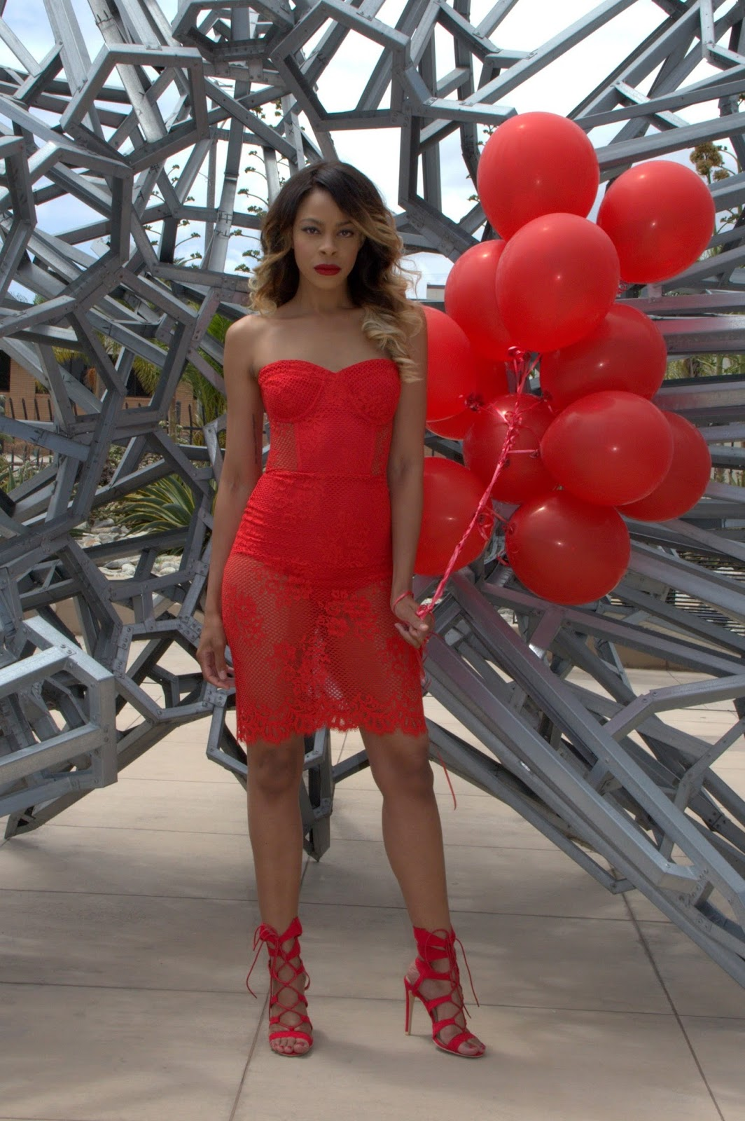 shayla drake, shayla greene, allthingsslim, red lace dress