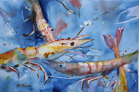 Contemporary artists of georgia shrimp sea life art for Sea life paintings artists