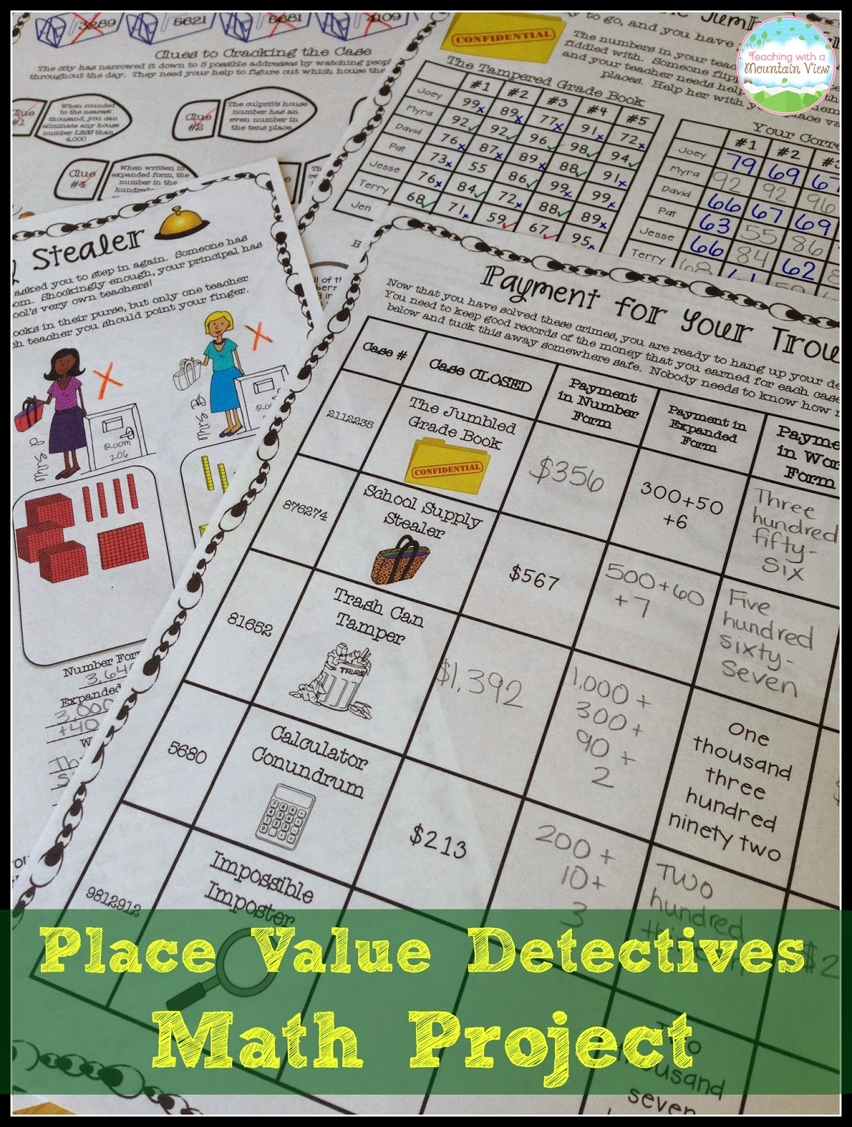 Worksheet 5th Grade Place Value teaching with a mountain view place value it has been huge hit students and i love the way makes them really think about value