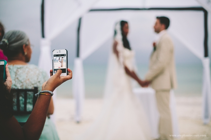 """wedding ceremony at azul beach resort in cancun"""