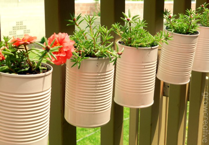 Vertical Tin Can Planters, Outdoor Living Decor: Grow Creative